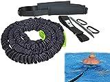 BodyCROSS Premium Schwimmtrainer für jeden Pool geeignet, optimales Schwimmen ohne Gegenstromanlage, gepolsterter Schwimmgürtel mit Tube 1-20kg Zugkraft, geprüft und Zertifiziert, Made in Germany