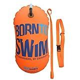 BornToSwim Unisex-Adult Schleppboje für Schwimmer Helle Sicherheitsboje Ohne Trockentasche, Orange, 28 x 49 cm