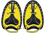 Seac Unisex-Adult Pro Handflossen, Paddel für das Schwimmtraining im Pool und im Freiwasser, schwarz/gelb, S/M