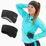 Sport Stirnband für Damen und Herren - Winter Ohrenwärmer Stirnbänder Ohrenschützer Warm Headband for Jogging, Laufen, Wandern, Fahrrad und Motorrad Fahren 2 Stück Farbe 2