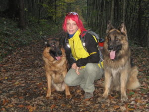 Christina Herbst mit Hunde
