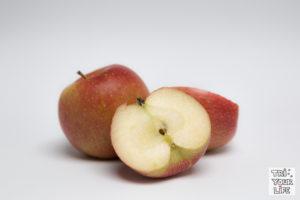 Apfel aufgeschnitten