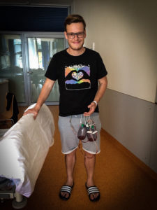 Hartwig Ortner kurz nach der OP