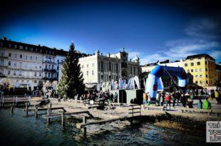 Rathausplatz Gmunden Silvesterlauf 2017