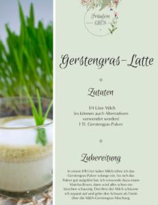 Fräulein Grün Gerstengras Latte