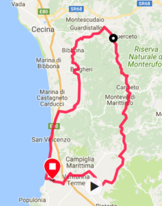 Rennradtour Canneto Karte