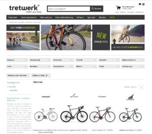 Rennrad Tretwerk Online-Shop