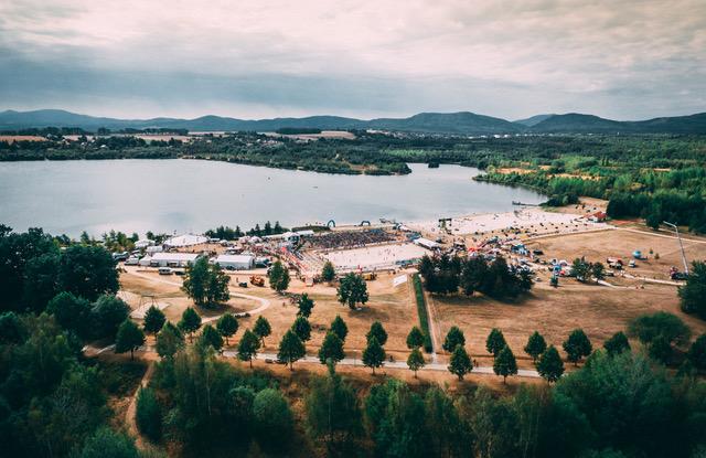 O-SEE See Strand von oben