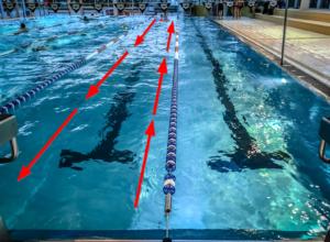 Schwimmen Kreisel