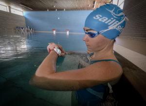 Schwimmen mit Uhr Start