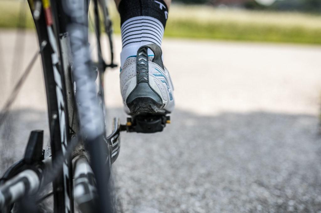 Taube Füße Rennrad