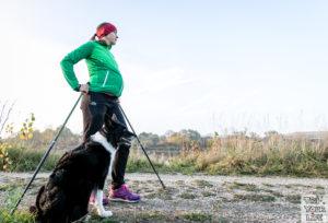 Kathi Schwangerschaft Nordic Walking